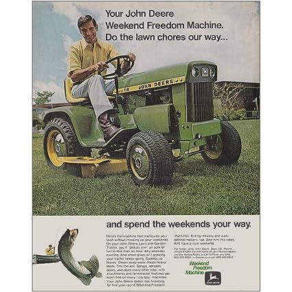 Weekend Freedom Machines >> Amazon Com Relicpaper 1971 John Deere Tractor Weekend Freedom