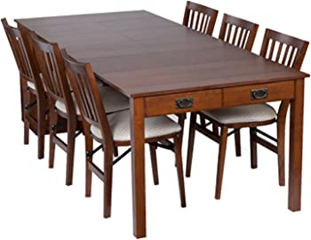 Meco Stakmore Mission Style Expanding Dining Table