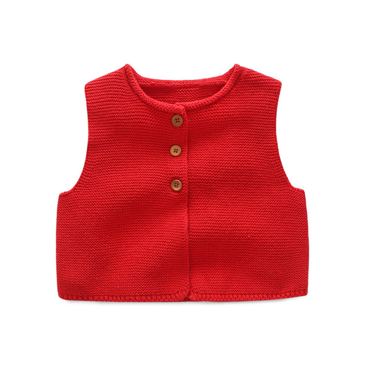 Kids Toddler Little Girls Front Button-down Soild Sweater Cardigan Waistcoat Vest