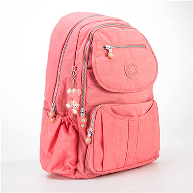 2b446d2ecadb Image Unavailable. Image not available for. Color  School Backpack Teenage  Girl Feminina Women Backpacks Female Nylon Big Travel Backpack Laptop ...