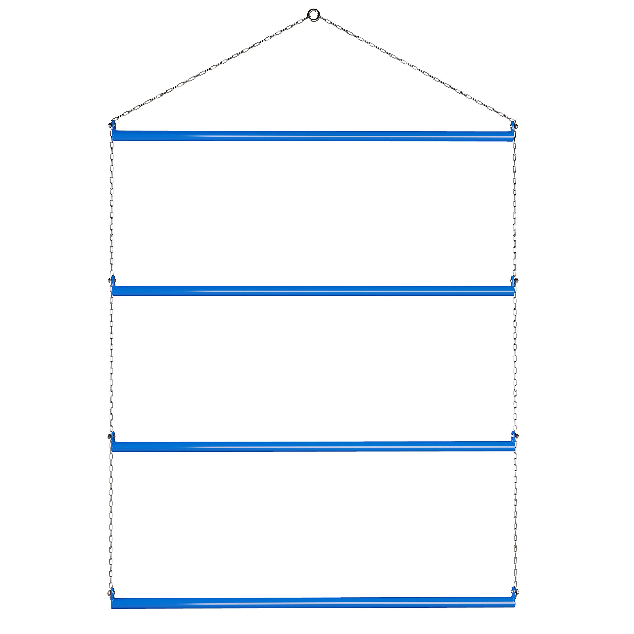 Blanket Rack 33'' (Blue). Available in Black, Blue, Red & Pink. Suitable for Horse Blankets, Saddle Blankets, Rugs & Towels. Extra Long for Western Saddle Blankets and Horse Blankets.