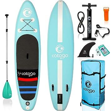Rolimate Tabla de Surf Hinchable con Bomba, Remo, Aleta, Kit de ...