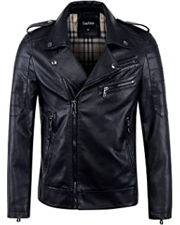b9b2f1588 Best Seller Leather Men's Leather Jacket at Amazon Men's Clothing store