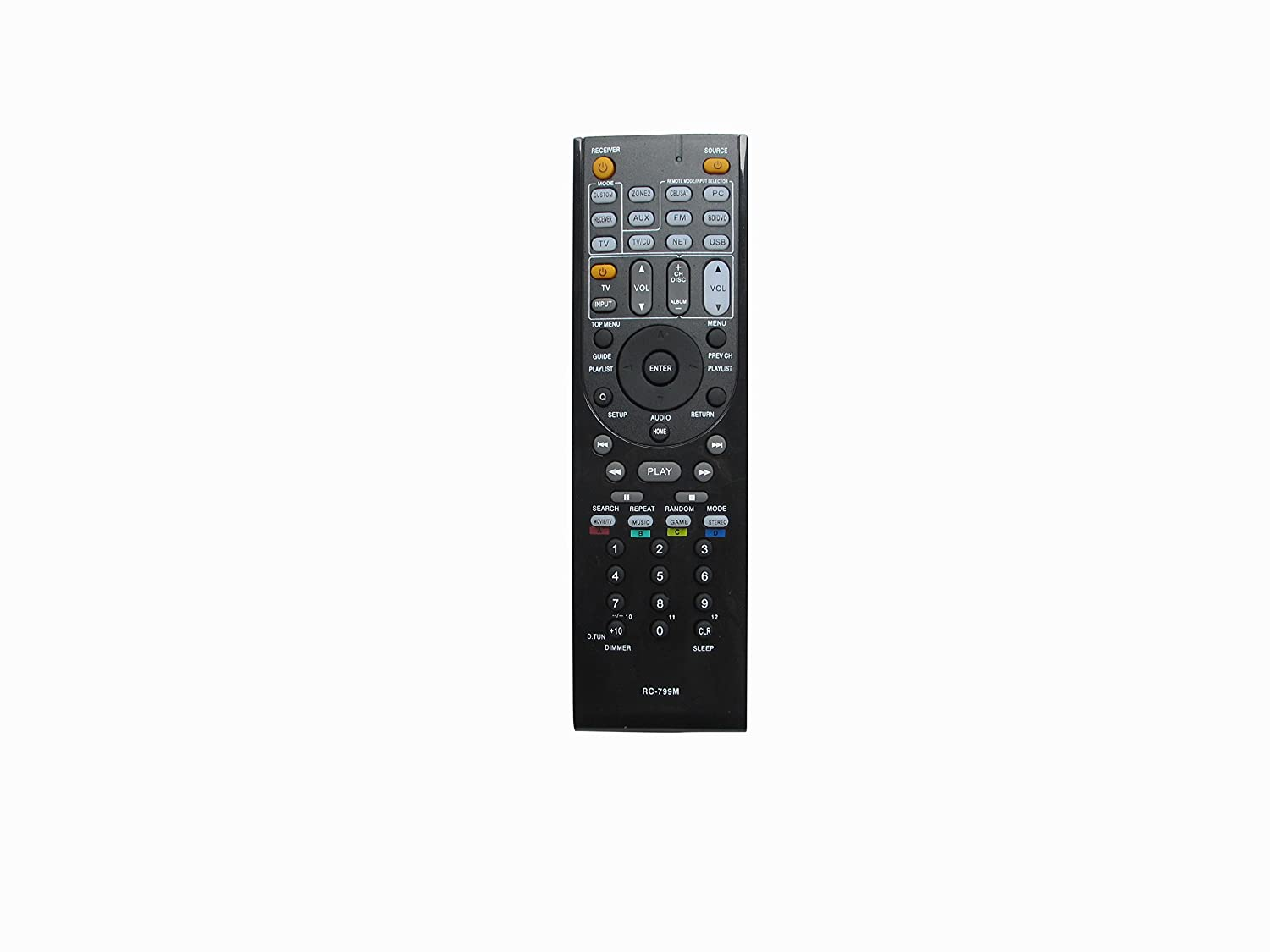 New General Replacement Remote Control Fit For Onkyo TX-NR708 TX-NR1008 HT-R2295 HT-RC230 A/V AV Receiver