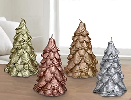 christmas trees candles 4 pack 6 table centerpiece window decorations ornaments gifts for