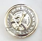 """Tanishka Exports 3"""" Nautical Sundial Compass Brass"""