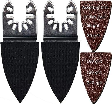 51 Sanding Paper Set Oscillating MultiTool Black /& Decker Bosch Craftsman Makita