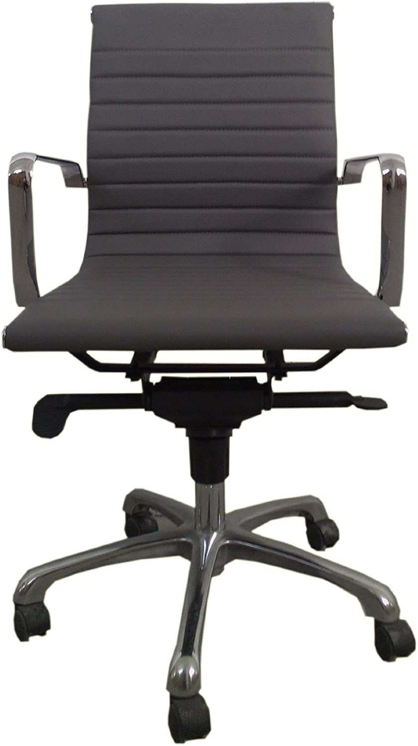 Moe's Home Collection Bern Low Back Office Chair, Grey