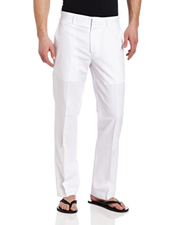 Cubavera Men's Linen-Cotton Herringbone-Textured Pant at Amazon ...