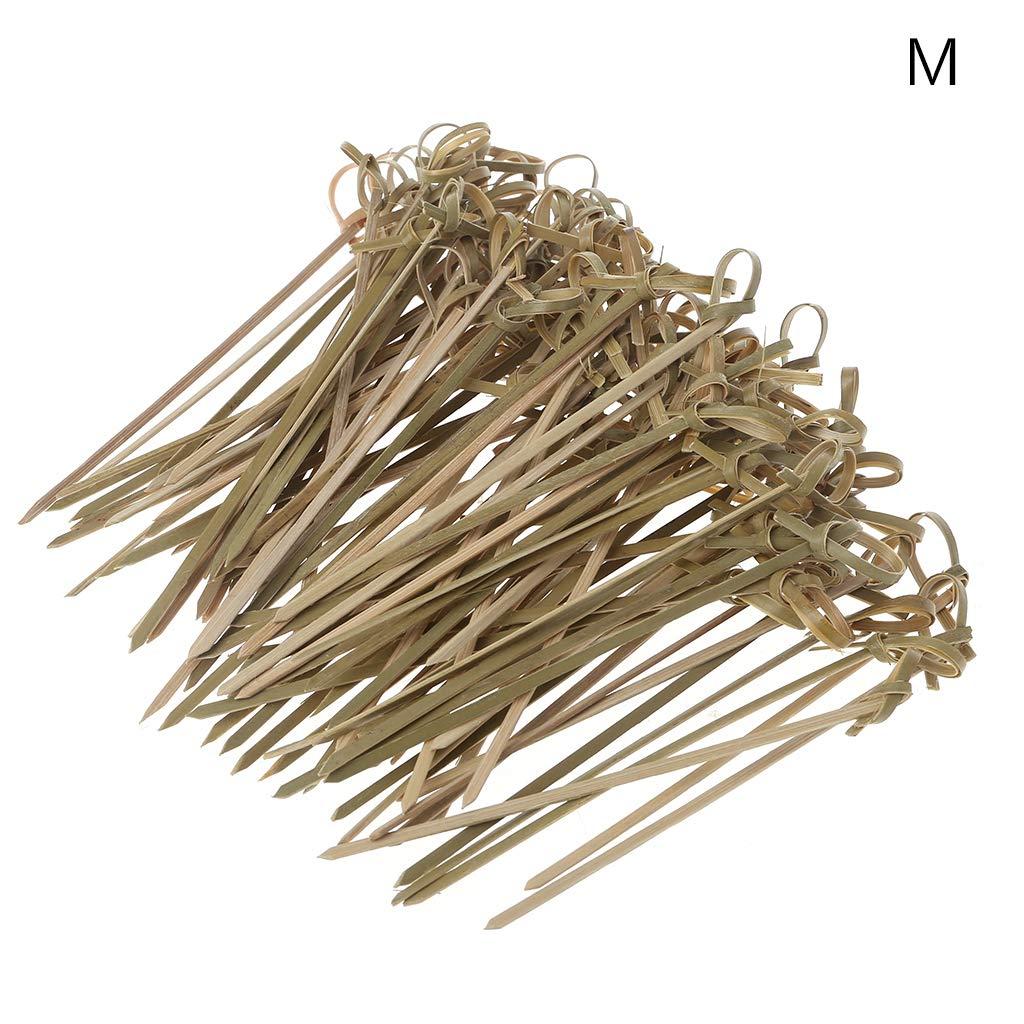 100 piezas desechables bambú