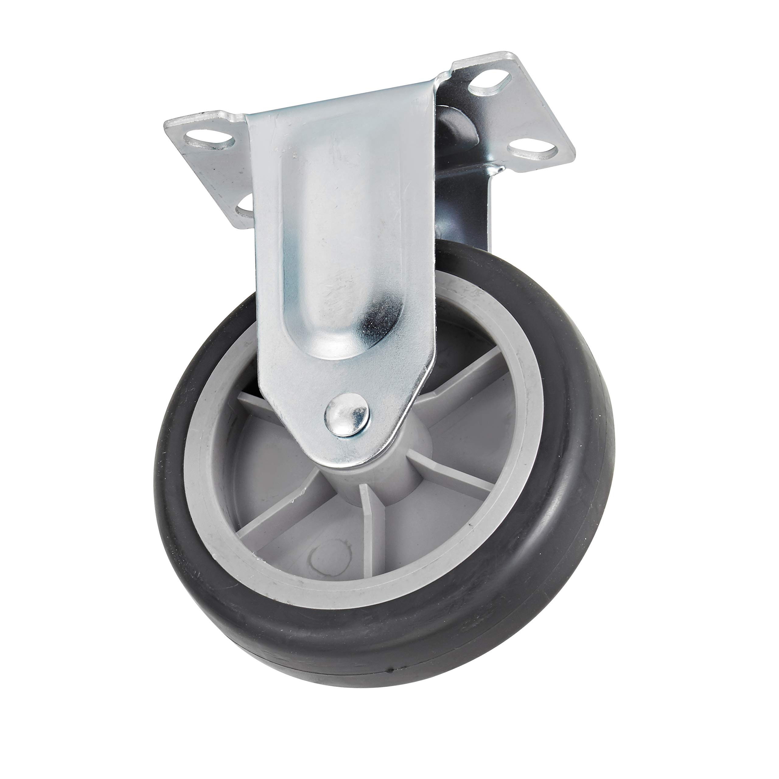 AdirOffice Replacement Castor for The 690-00 AdirOffice Folding Aluminum Platform Truck (Fixed Castor) - Durable Caster Wheels for Industrial & Commercial Use