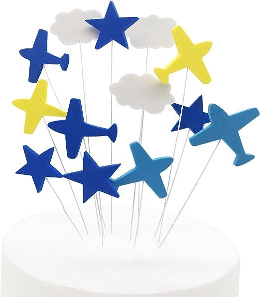 Amazon.com: Avión Star decoración para tarta para, kootips ...