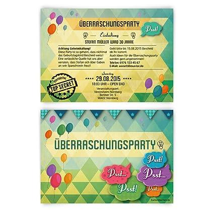 Tarjetas De Invitación Para Cumpleaños 30 Unidades