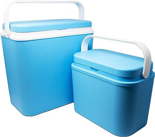Toci – Juego de neveras con nevera grande de 24 litros y nevera pequeña de 10 litros: Amazon.es: Jardín