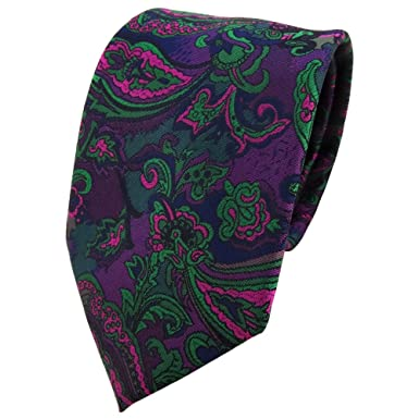 TigerTie - Corbata - morado violeta verde marina multicolor ...