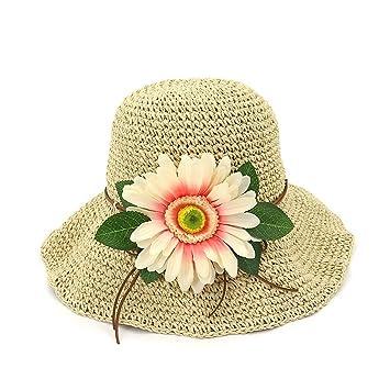 Yaojiaju Sombreros de paja de verano 606f66ec4ac