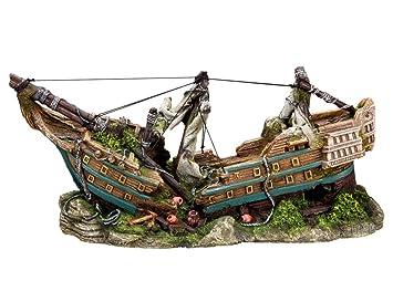 Nobby Bateau Décoration pour Aquarium 44,5 x 16 x 20 cm: Amazon.fr
