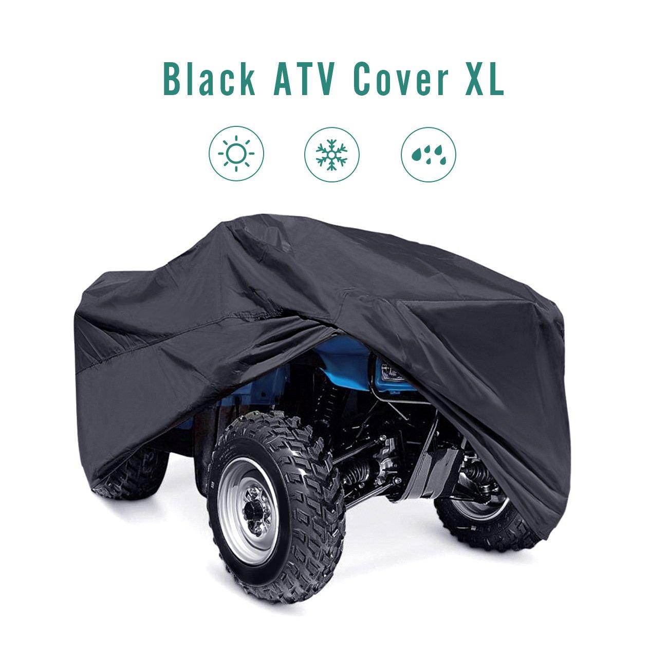 INNOGLOW 210T XL(210x120x115CM)82'' Universal Black UTV ATV Storage Cover All Season Durable Waterproof Wind-proof UV Protection for POLARIS SUZUKI YAMAHA KAWASAKI HONDA RANCHER FOREMAN FOURTRAX RECON