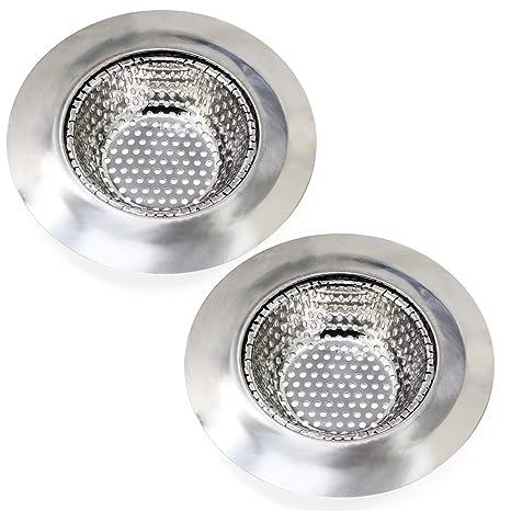 keesin fregadero de acero inoxidable colador cubierta para desagüe de fregadero filtro de drenaje 2pcs, acero inoxidable, 11.5cm