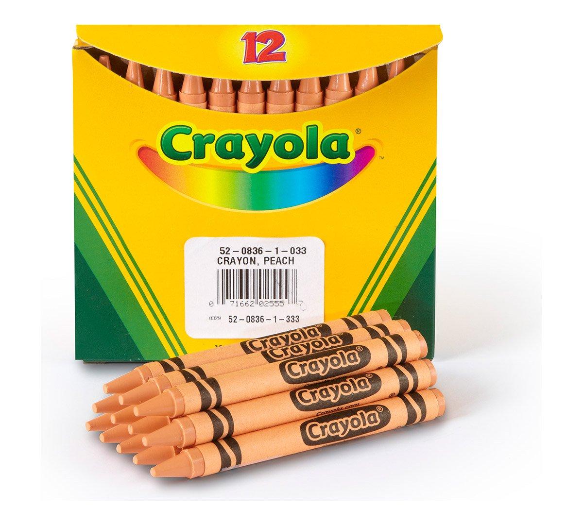 Crayola Bulk Crayons, Regular Size - Peach, Pack of 12 by Crayola (Image #1)