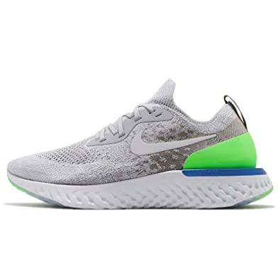 new photos 4010a 18659 NIKE Men's Epic React Flyknit, Wolf Grey/Lime Blast, 11 M US