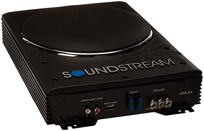 amazon com soundstream usb 8a 8 inch powered subwoofer slim rh amazon com
