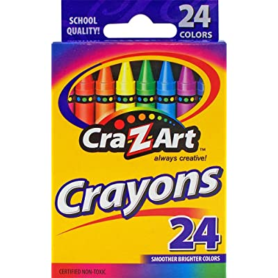 Cra-Z-Art Crayons, 24 count : Artists Crayons : Office Products