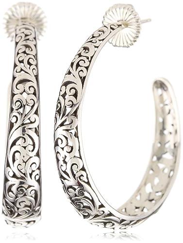 "2409b40c1c2472 LOIS HILL ""Lois Hill Classics"" Open Scroll Convex Medium Hoop  Earrings"