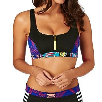 Roxy Polynesia - Haut de bikini zippé pour femme ERJX303101 2018 Nouveau Rabais qualité Oac46R3G9