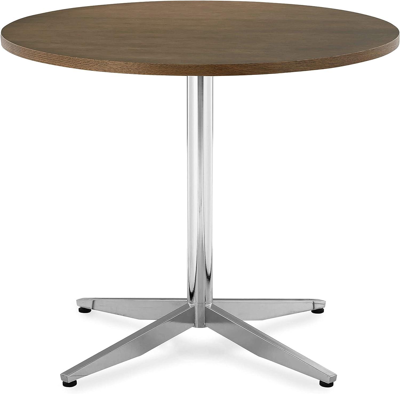 "POLY & BARK Geneva 35"" Dining Table in Chrome"