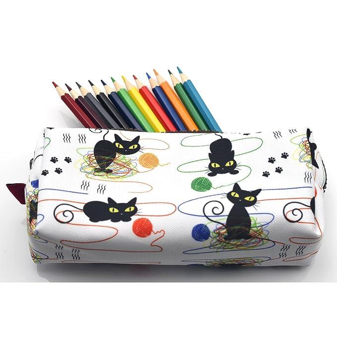 Amazon.com: Gato estuche gatos y bolsa de hilo para tejer ...