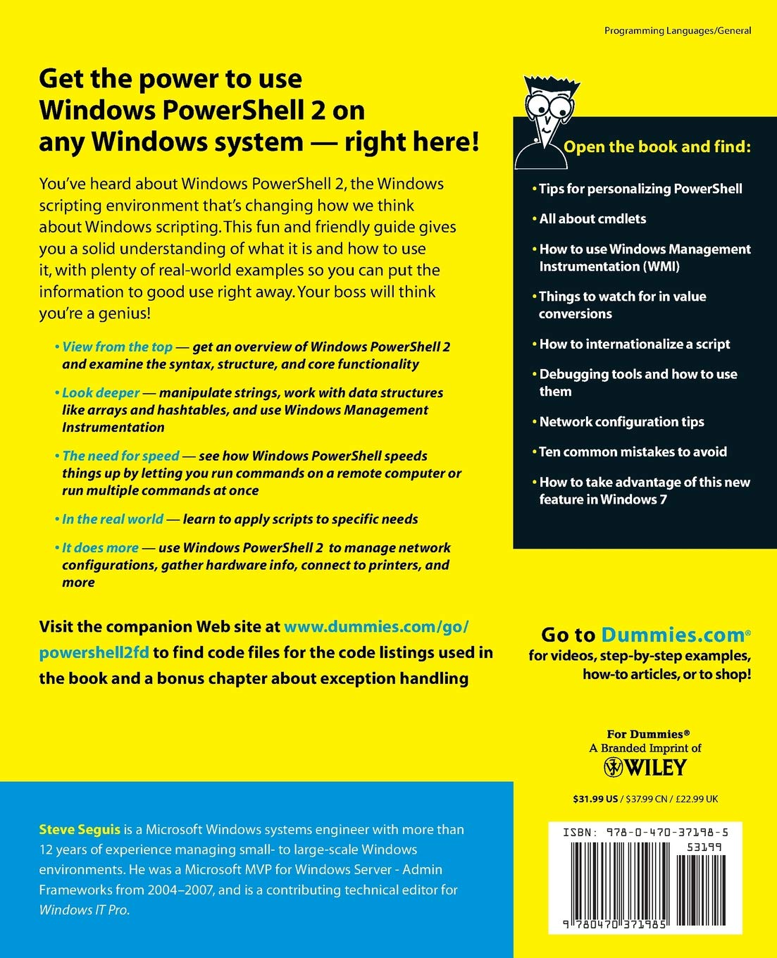 Windows PowerShell 2 for Dummies: Amazon co uk: Steve Seguis