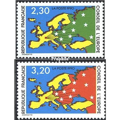 France da47-da48 (complète.Edition.) 1990 carte de l\u0026#39;europe (Timbres pour les collectionneurs)
