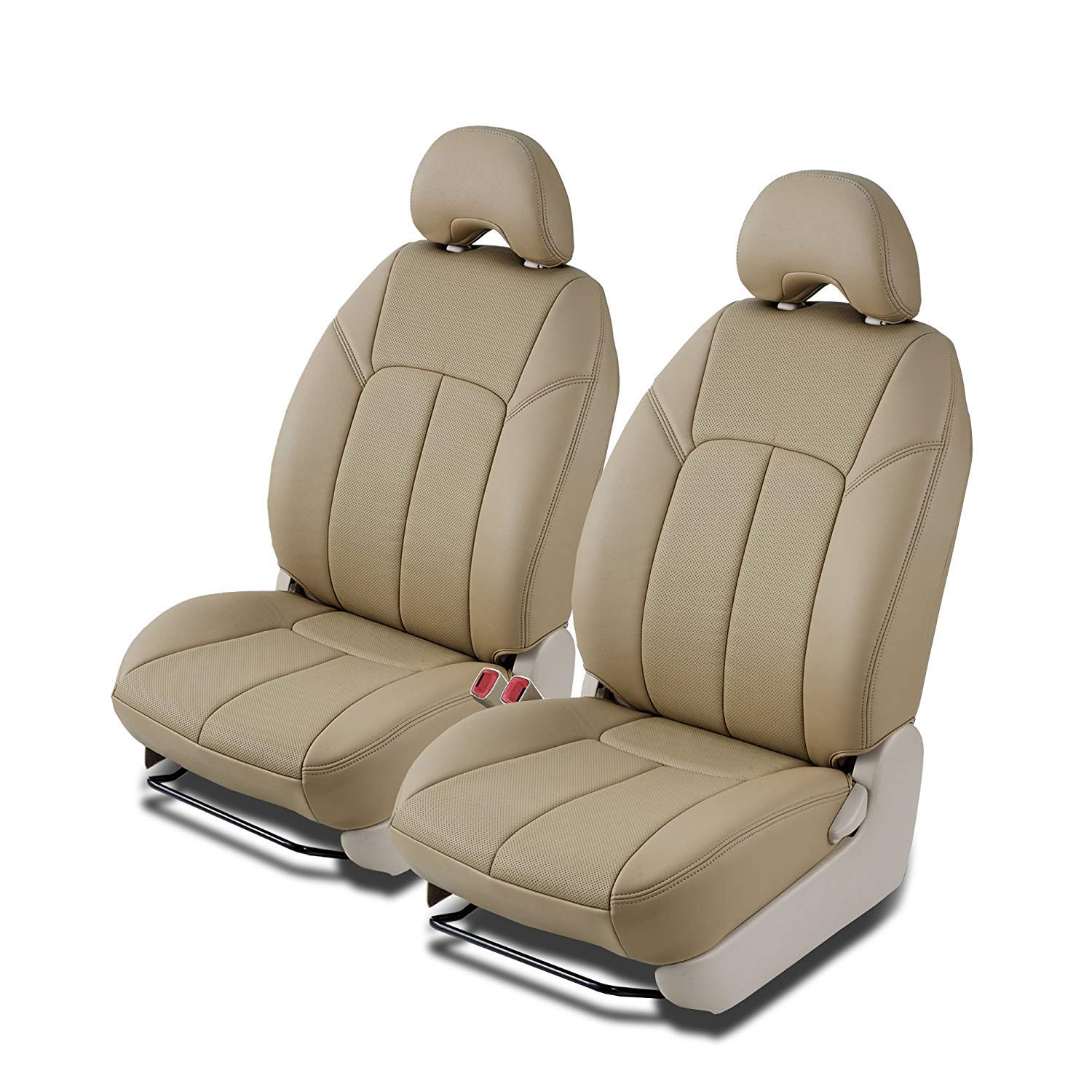 Clazzio 722331tann Tan Leather Front Row Seat Cover for Ford F150 Super Cab