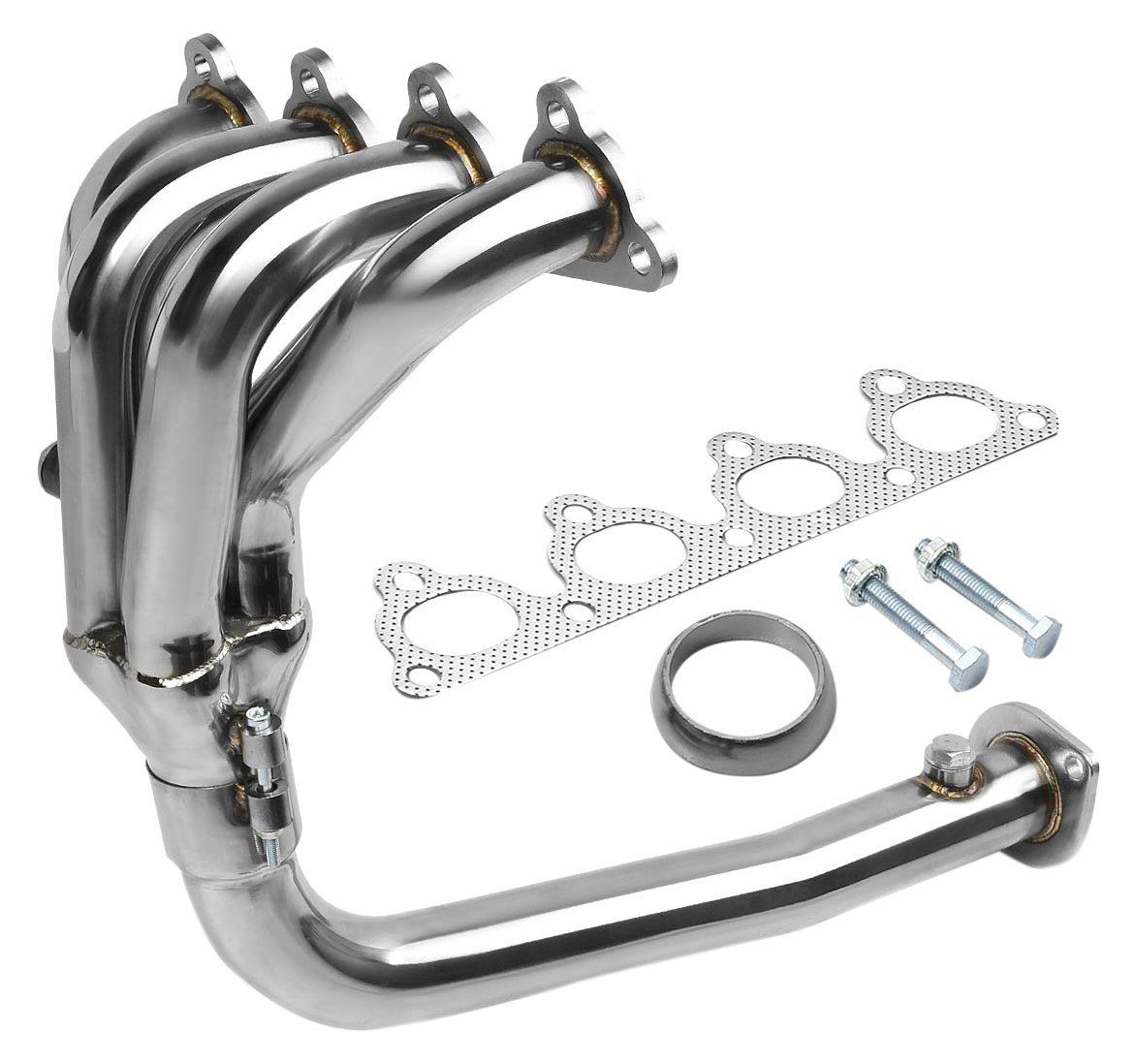 Polished Chrome DNA MOTORING HDS-HC88-41 Stainless Steel 4-2-1 Exhaust Header for Honda D-Series