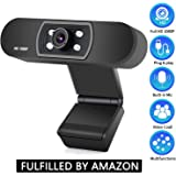ANTZZON Webcam 1080P Full HD PC Skype Camera,with Microphone, Video Calling and Recording for Computer Laptop Desktop, Plug a