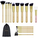 Foundation Makeup Brushes Kit Consist of 17 Pcs Professional Cosmetic Tools and 1 PCS Silicone Face Mask Brush are Made of Ba