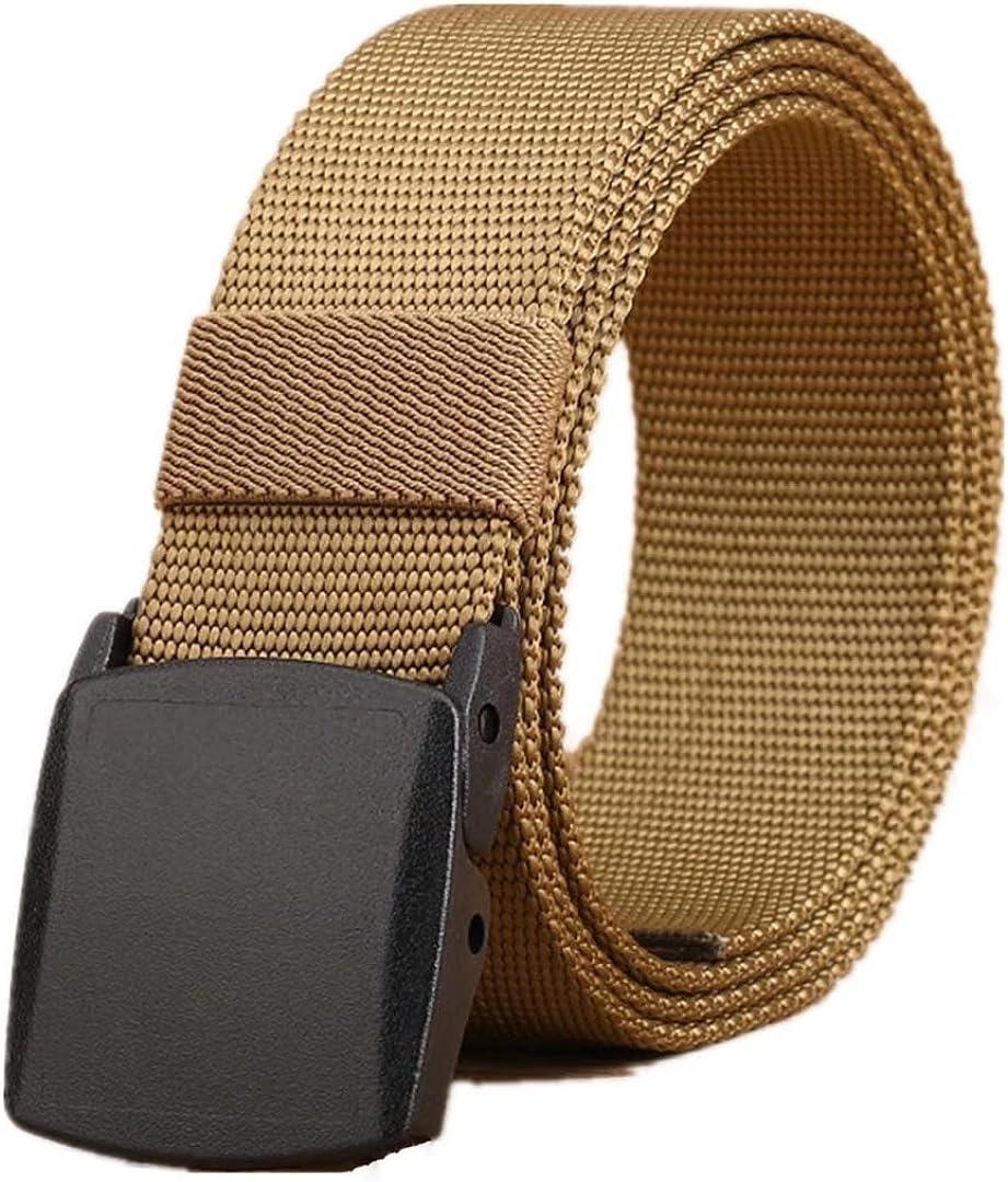 XXF Portable leisure outdoor belt anti-allergy belt tactics with environmentally friendly nylon mens plastic buckle belt