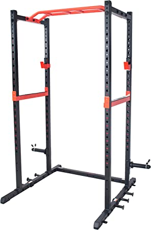 side facing sunny health & fitness power zone strength rack power cage