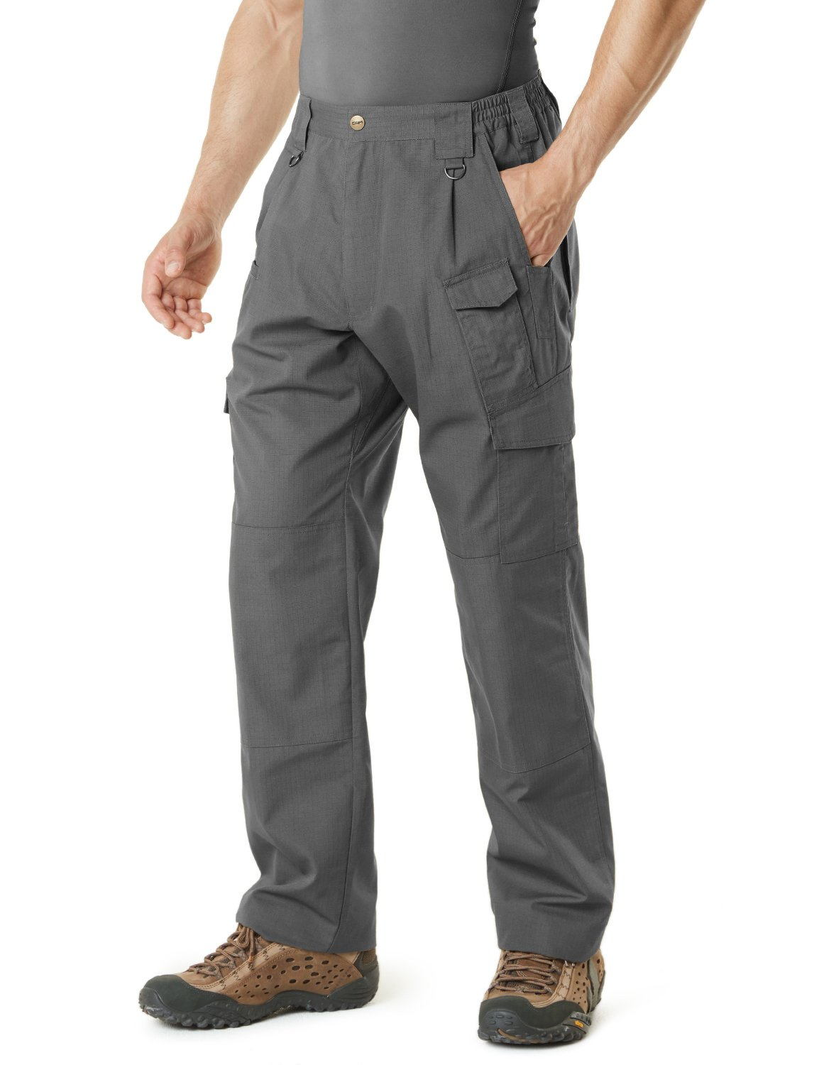 CQR CQ-TLP105-CHC_30W/30L Men's Tactical Pants Lightweight EDC Assault Cargo TLP105