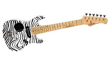 Poco Lyon para guitarra eléctrica, diseño de cebra: Amazon.es: Instrumentos musicales