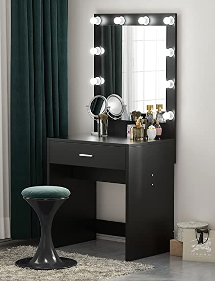 Amazon tribesigns vanity set with lighted mirror makeup vanity tribesigns vanity set with lighted mirror makeup vanity dressing table dresser desk bedroom 10 aloadofball Choice Image