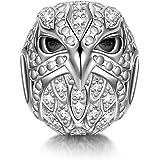 NINAQUEEN - Adler - Damen Charm 925 Sterling Silber Nickelfrei Beads