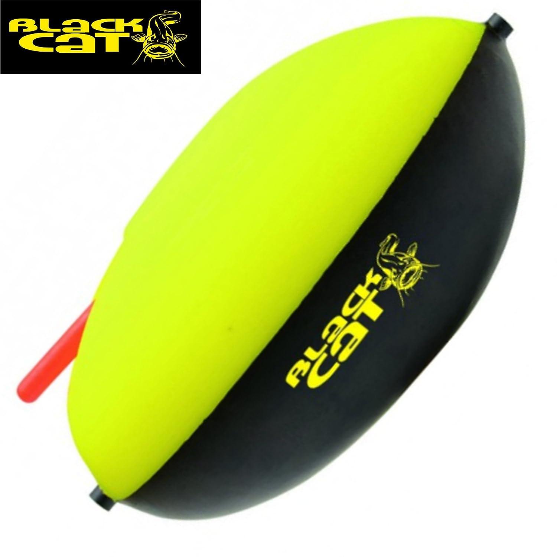 Black Cat Side Float Wallerpose - Welspose zum Wallerangeln Wallerschwimmer Angelpose zum Welsangeln Welsschwimmer 100g - 200g Pose