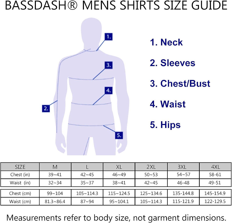 UV Pull /à Capuche /à Manches Longues pour la p/êche en Plein air Natation Bassdash Hommes Chemise /à Capuche Protection Solaire UPF50