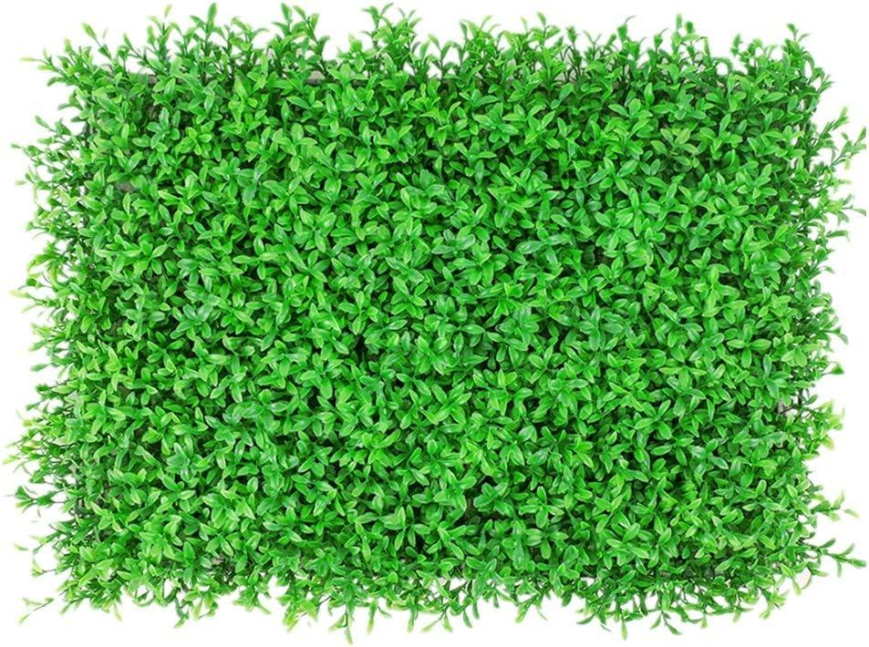 人工植物マット フェイクグリーンマット 耐久性のある12枚の人工つげパネルは工場プライバシースクリーンのUV保護フェンス裏庭の庭園緑化壁をヘッジトピアリー 店舗装飾 壁面緑化 (色 : 緑, サイズ : 60x40cm)