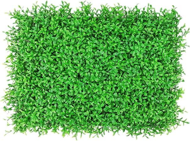 Chlyuan - Valla Artificial de 12 Piezas de Paneles de Madera de boj Artificial para Valla de privacidad, para jardín, jardín, jardín, Valla Falsa, plástico, Verde, 60x40cm: Amazon.es: Hogar