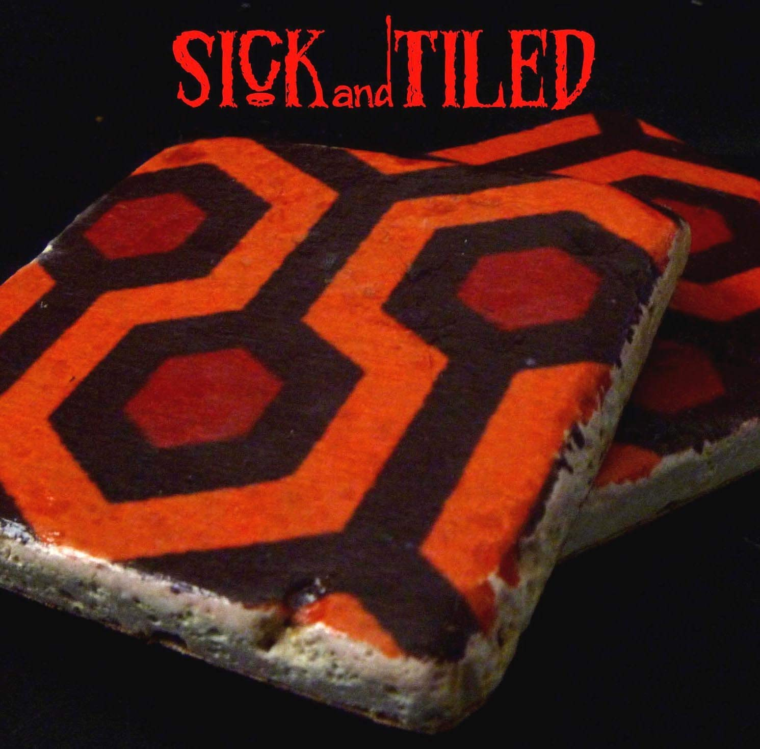 A Stay At The Overlook Hotel Handmade Tumbled Marble Coaster Single, Set of 2 or Set of 4Shining Inspired Gifts