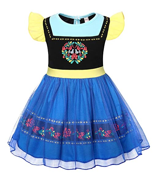 cotrio anna dress up princess fantasy nightgowns sleepwear dresses halloween party costumes for little girls size