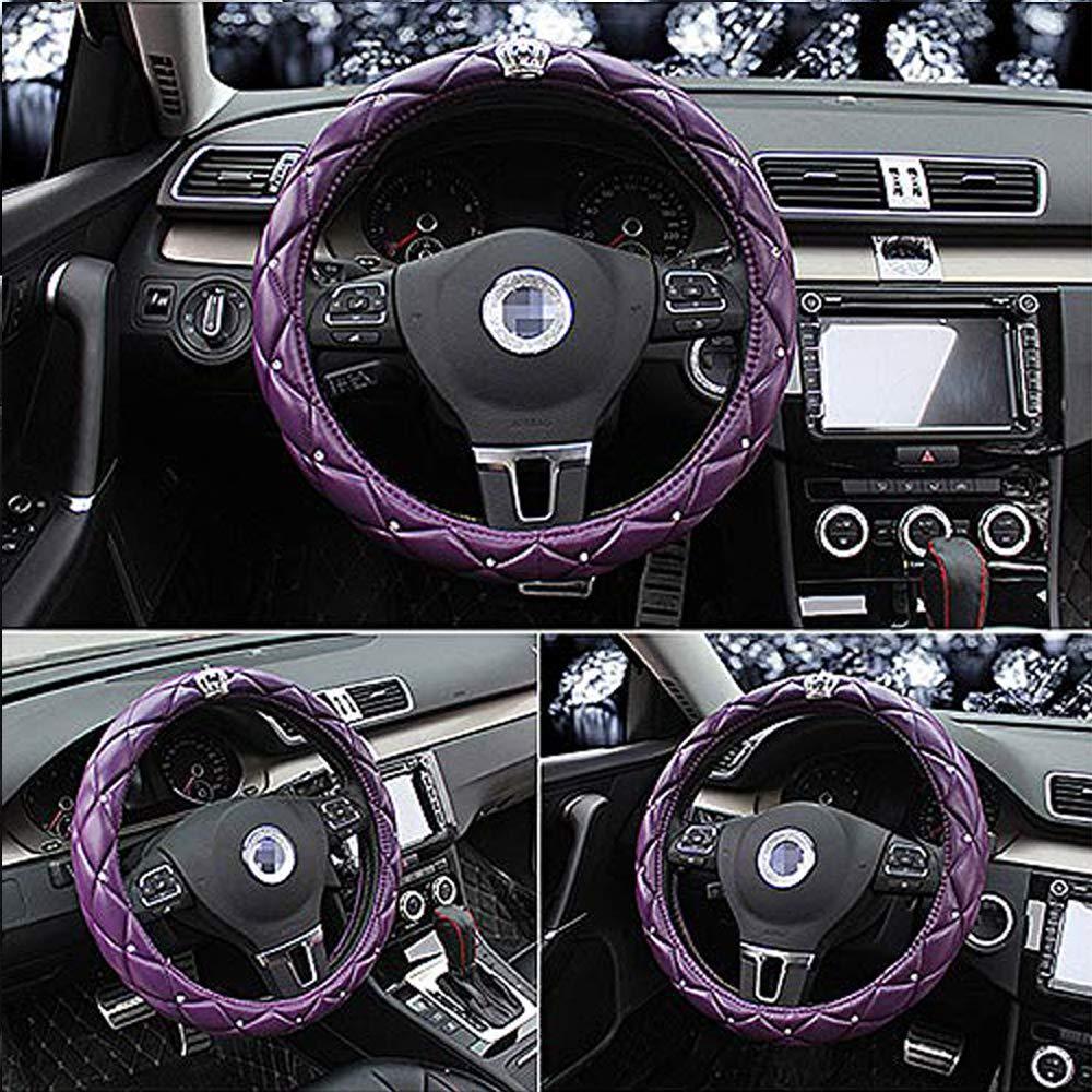 Rosso Coprivolanti Coprivolante per auto da ragazza in lattice con corona e diamanti collezione alla moda e di classe